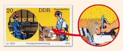 DDR MiNr. 2400 PF I ** Fernsprechvermittlung