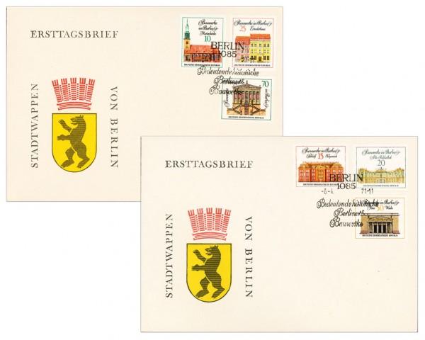 DDR FDC MiNr. 1661/66 Bed. Bauten