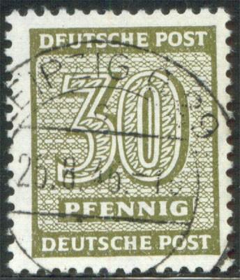 SBZ West-Sa. MiNr. 135 X za o gepr. Freimarke Ziffern 30 Pf