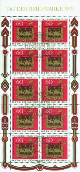 BRD MiNr. 1023 Klbg.o (SoStpl.) Tag der Briefmarke 1979