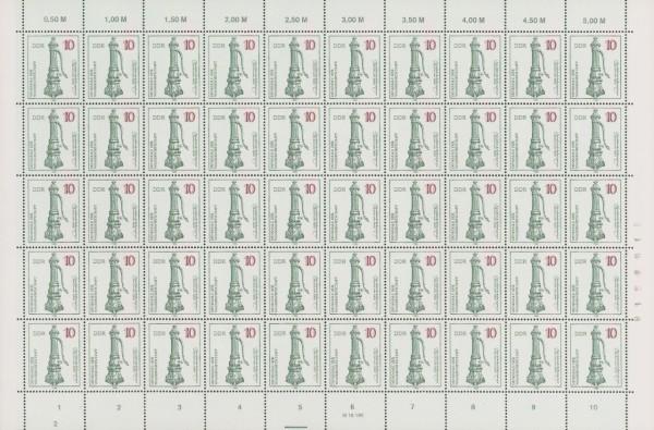 DDR Bogensatz MiNr. 2993/96 ** Denkmale der Wasserwirtschaft, inkl. Sammelblätter