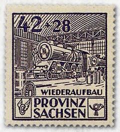 SBZ Prov.Sa. MiNr. 87/89A ** gez. Wiederaufbau