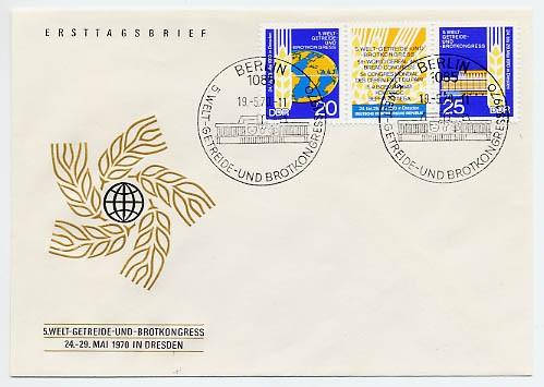 DDR FDC MiNr. 1575/76 Zdr. 5. Welt-Getreidekongreß