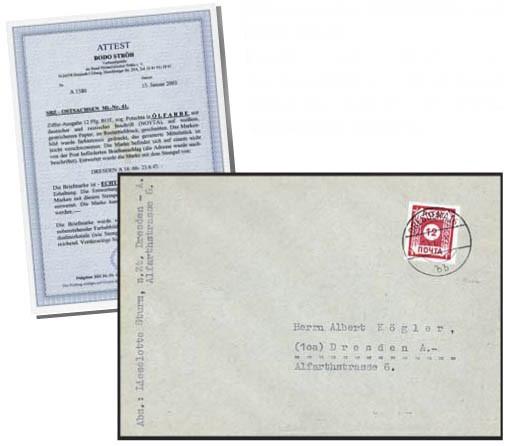 SBZ Ost-Sa. FDC MiNr. 41 POTSCHTA auf Brief (o 23.06.45 Ersttag)