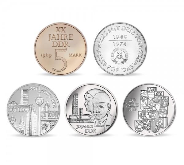 """DDR Münzen-Set """"Die Staatsjubiläen"""""""