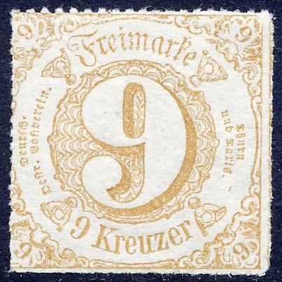 Thurn & Taxis MiNr. 44I ** 9 Kr., ockerbraun, durchstochen