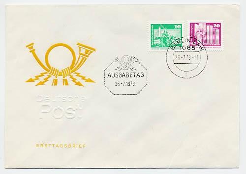 DDR FDC MiNr. 1868/69 RM Freimarken: Aufbau in der DDR (klein) (Rolle)