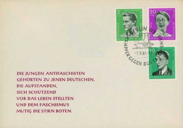 DDR FDC MiNr. 849/53 Antifaschisten