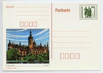 DDR Ganzsache P 109/03 * 30 Pf. Bildpostkarte Schwerin
