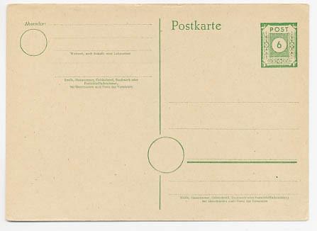 SBZ Allg.A. Ganzsache P 8a * (6 Pf.)