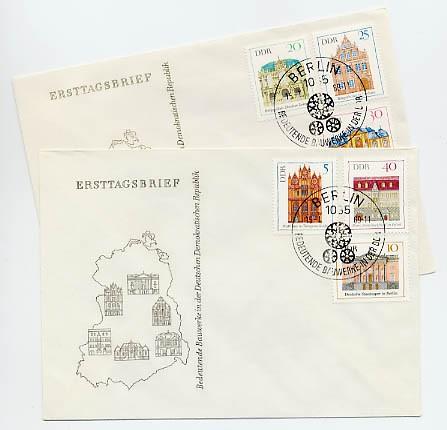 DDR FDC MiNr. 1434/39 Bedeutende Bauten