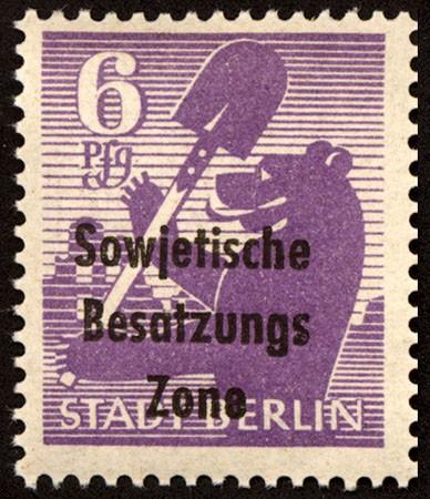 """SBZ Allg.A. MiNr. 201 Awbx ** gepr. Papier """"wb"""" glatte Gummierung"""