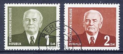 DDR MiNr. 342/43 o Freimarken: Pieck III