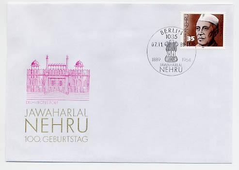 DDR FDC MiNr. 3284 100. Geb. Nehru