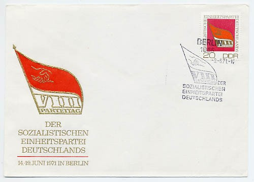 DDR FDC MiNr. 1679 8. Parteitag d. SED