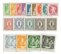 Bayern MiNr. 178/95 ** 18 Werte Landarbeiter u. Schutzpatronin Bavaria