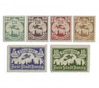 Freie Stadt Danzig MiNr. 66/71X **