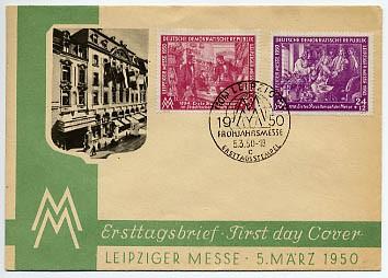 DDR FDC MiNr. 248/49  LFM 1950