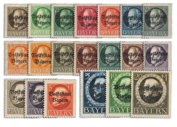 Bayern MiNr. 116/35 IIA ** Volksstaat Bayern / Pf/M / gezähnt