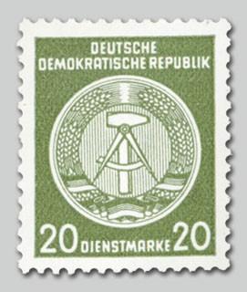 DDR Dienstmarken A MiNr. 28x ** Zirkelbogen nach links