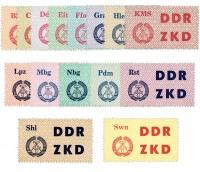 DDR Dienstmarken C MiNr. 1-15 ** Laufkontrollzettel f.d.Volkspolizei, 15 Werte
