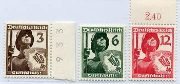 Dt. Reich MiNr. 643/45 ** Luftschutz