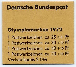 BRD MH 17 ** Olympische Spiele 72