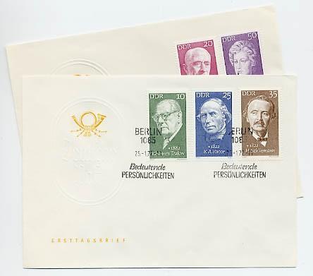 DDR FDC MiNr. 1731/35 Berühmte Persönlichkeiten (VII)