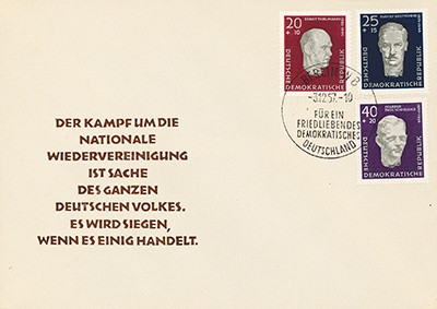 DDR FDC MiNr. 606/08 A Antifaschisten