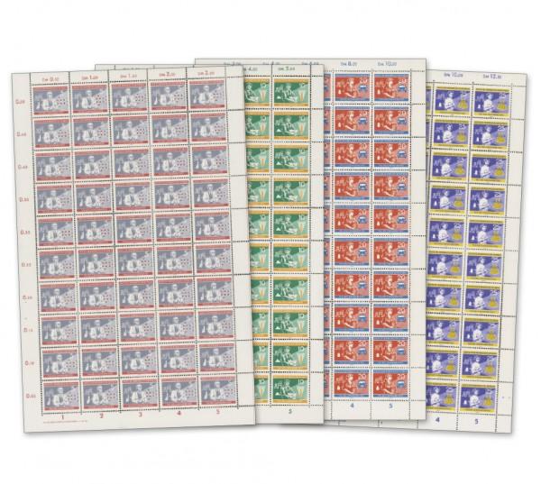 DDR Bogensatz MiNr. 800/803 ** inkl.Sammelblätter Tag des Chemiearbeiters