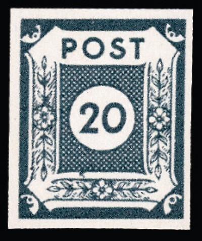 SBZ Ost-Sa. MiNr. 48 b ** - 20 Pf Freimarke Ziffern/ sign. Zierer