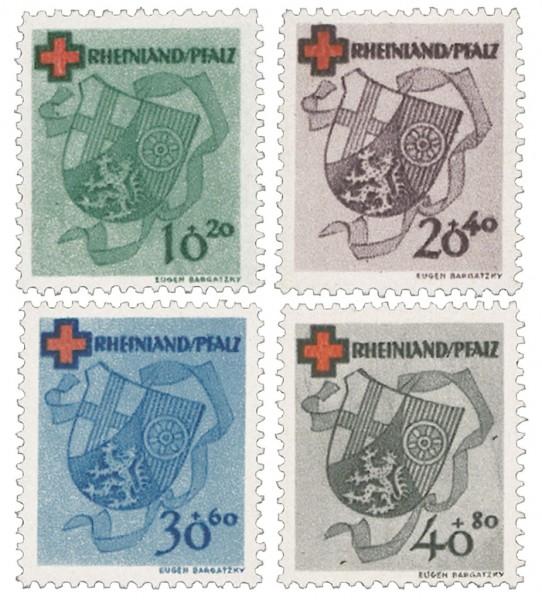 Franz.Zone Rh./Pf. MiNr. 42/45A ** Deutsches Rotes Kreuz