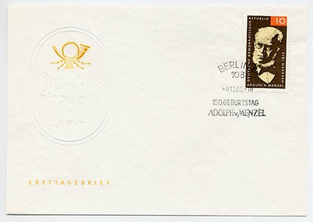 DDR FDC MiNr. 1146 150. Geb. Menzels