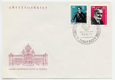 DDR FDC MiNr. 893/94 80. Geb. von Dimitrow