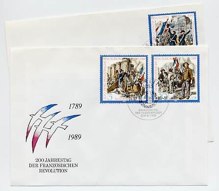 DDR FDC MiNr. 3258/60 200. Jtg. d. Franz. Revolution