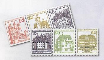 Berlin 22 Zdr. aus MH ** Burgen und Schlösser W61-W82