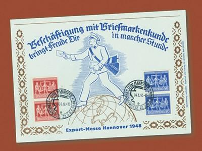 All.Bes.GA Schmuckbeleg MiNr. 969/70  Exportmesse Hannover, mit senkr. Paar