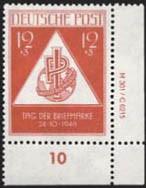 SBZ Allg.A. MiNr. 228 ** DV und DZ Tag der Briefmarke