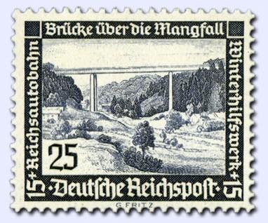Dt. Reich MiNr. 641x ** gepr. Winterhilfswerk/Moderne Bauten