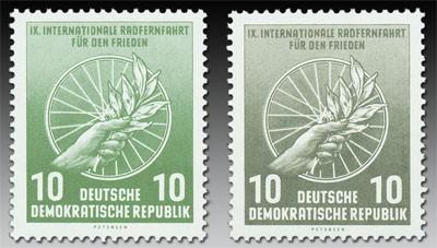 DDR MiNr. 521 a + b ** 10 Pf, Int. Radfernfahrt