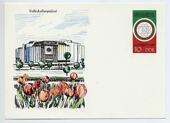 "DDR Ganzsache P 101 * 10Pf. SPK ""Bulgaria 89"""
