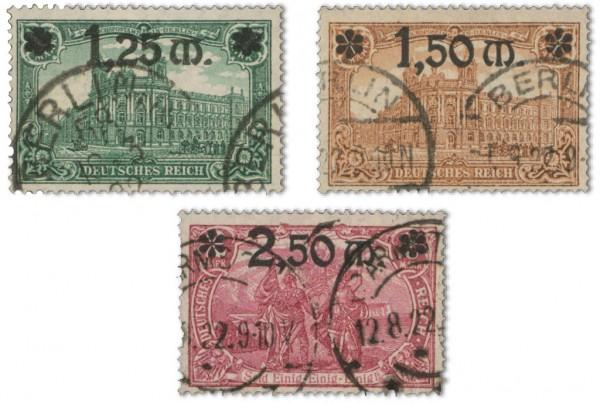 Dt. Reich MiNr. 116/18 o gepr. FM: Darstellung des Kaiserreiches mit Aufdr.