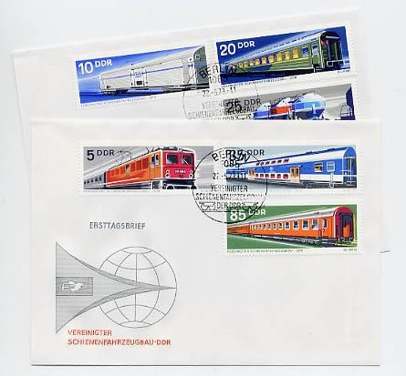DDR FDC MiNr. 1844/49 Schienenfahrzeuge