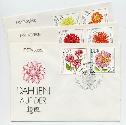 DDR FDC MiNr. 2435/40 Gartenbauausstellung
