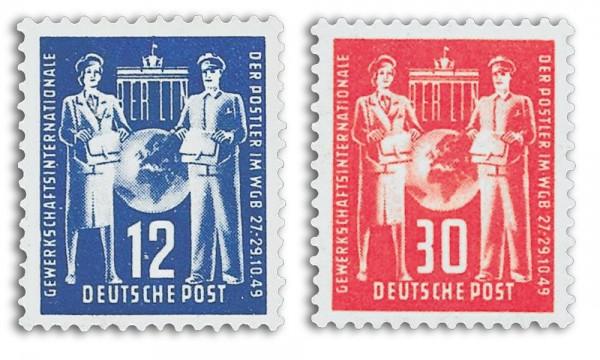 DDR MiNr. 243/44 ** Postgewerkschaft