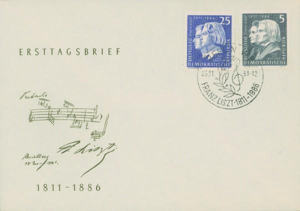 DDR FDC MiNr. 857/60 150 Gbtg. Franz Liszt
