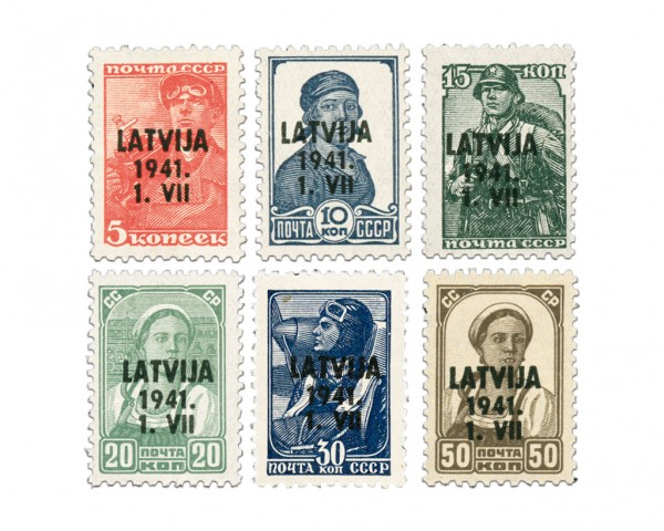 Dt. Besetzung Lettland MiNr. 1-6 ** kplt.