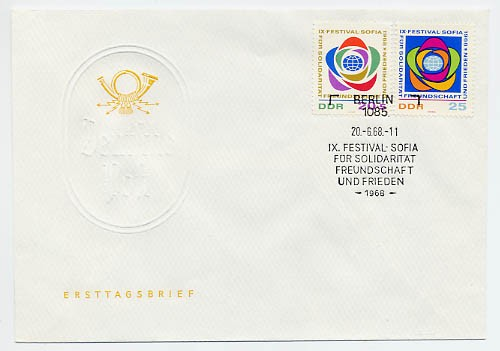 DDR FDC MiNr. 1377/78 Weltfestspiele Sofia