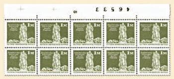 DDR MiNr. 1968 ** Zwei 5er-Streifen mit Zählnummer