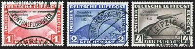 Dt. Reich MiNr. 496/98 o Zeppelin-Chicagofahrt 1933